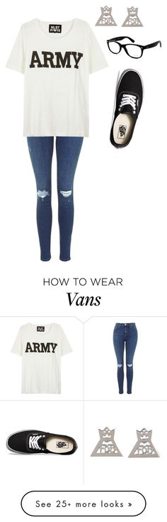 """""""big tshirts, FOB,comfy shoes and cute jeans"""" by bvbqueen123 on Polyvore featuring Ray-Ban, Vans and NLST"""