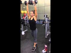 Sarah Bowmar Shoulder Workout / Half Arnolds - YouTube