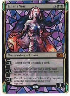magic altered - Liliana Vess - Stained Glass