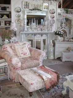 Relaxing Shabby Chic Style Like This Chair :)