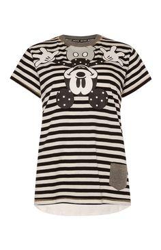 Primark - Black Stripe Mickey Mouse Top