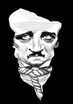 Edgar Allan Poe by David Levine