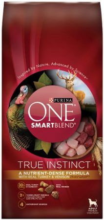 Purina ONE SmartBlend True Instinct Turkey and Venison Formula Dry Dog Food *** New and awesome dog product awaits you, Read it now : Best dog food Instinct Dog Food, Purina One Dog Food, Best Dry Dog Food, Dog Food Reviews, Dog Food Brands, Cat Treats, Venison, Cat Food, Dog Supplies