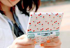 cherry, nintendo and nintendo ds image on We Heart It Nintendo Ds, Nintendo Consoles, Nintendo Switch, Super Nintendo, Yandere, Ds Lite, Kawaii Accessories, Tech Accessories, Cute Gif