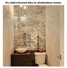 Love This Mirrored Subway Tile