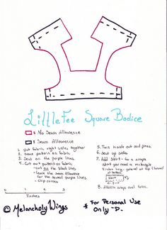 LittleFee Square Bodice Pattern | by MelancholyWings