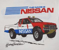 Doesn't this vintage Nissan truck make you want to go mud-trekking?