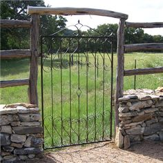Wrought iron fencing is a beautiful and commonly intricate fencing choice that can give a high course flare to your home. Varying from easy tall bars to extremely comprehensive ornate metalwork, wrought iron fencing is resilient and also stylish. Gate Decoration, Wrought Iron Fences, Grades, White Picket Fence, Fence Design, Garden Design, Camping, Garden Gates, Outdoor Projects