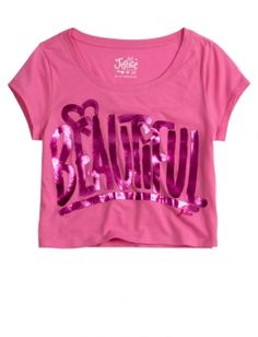 Beautiful Tee - $14.90 and it's at Justice-(Ludmila's Style of Shirt)