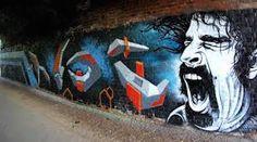 Street art homages to Frank Zappa, Lemmy, David Bowie, Bon Scott, Ian Curtis & more - http://streetiam.com/street-art-homages-to-frank-zappa-lemmy-david-bowie-bon-scott-ian-curtis-more/