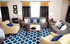 décoration salon en tapis à treillis marocain, Sarah Kidder Design