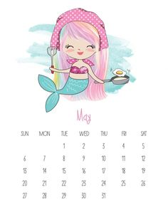 This Free Printable 2019 Kawaii Mermaid Calendar is gonig to make you smile! It is fabulous for mermaid lovers of all ages! Calendar Pictures, Photo Calendar, Print Calendar, Kids Calendar, Calendar 2020, Calendar Design, Free Printable Calendar Templates, Blank Calendar Template, Free Printables