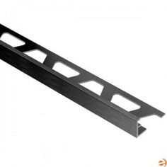 """JOLLY - Edging Profile - For 5/16"""" Thick Tile - 8' 2-1/2"""" Length - Brushed Graphite Anodized Aluminum"""