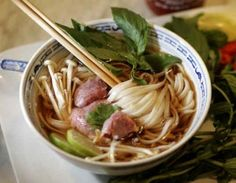 Slow Cooker Pho -- Try a different type of soup tonight with this flavorful recipe for Slow Cooker Pho! #Slow #Cooker #Soup