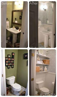Small Powder Rooms via houzz.com