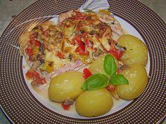 Zutaten    300 g Putenschnitzel  50 ml Gemüsebrühe  120 ml Kondensmilch, 4%ig  100 g Champignons  2 Lauchzwiebel(n)  1 Paprikaschot...