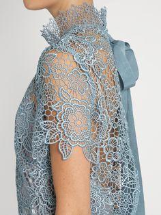Peep-back floral-lace mini dress | Self-portrait | MATCHESFASHION.COM