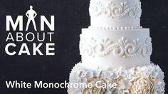 (man about) White Monochrome Cake | Man About Cake
