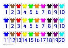 T-shirt number tracks (SB3533) - SparkleBox