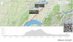 Prangins-Sugiez, vom Genfersee an den Murtensee  Vollständiger Bericht bei: http://agu.li/1kq  Gewittrig, schwül-warm und schweisstreibend ging es am Morgen über die Hügel, weg vom Genfersee, hinüber in die Ebene zwischen Neuenburger- und Murtensee. Weg von den Rebbergen am Genfersee, hin zu Gemüse- und Salatanbau im Mittelland. Das GPS registrierte: 105.56 KM und 1001 Höhenmeter.