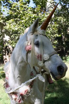 MADE to ORDER Variety of Color Choices Unicorn Horn FELT Brow Band Attachment for a Live Horse's Bridle