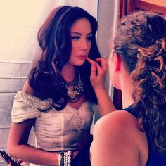 actress Malese Jow wearing vintage styled by Jazmin Whitley