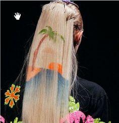 beach look hair painting