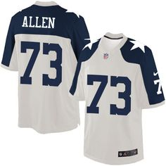 Nike Limited Larry Allen White Men's Jersey - Dallas Cowboys #73 NFL Throwback Alternate
