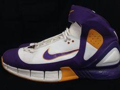 lowest price 1d3da 46423 2k5 Nike Air Zoom Huarache Los Angeles Lakers Kobe Purple Gold 310850-151  Sz 12