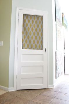 Build your own screen door! Want this for the closet so air can circulate.  Hate stuffy air in my closet!