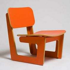 Capital Chair Orange by Azul Cadenas
