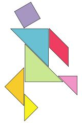 Tangram is fun and can be the starting point for many conversations. A tangram is made of seven shapes that you can arrange to make another shape. All the pieces must be used and none of them can overlap. It's easy to make your own tangram. Then see how many unique arrangements you can come up with! Repinned from Fun For Those Who Are Small by Marte Heggtveit Ikke Aslaksen