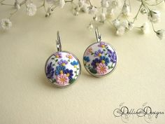 Spring Symphony 1  Floral Embroidered Polymer by DellineDesigns