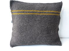 Chocolate Spice  Berber Wool Knitted Cushion by HeimArt on Etsy, £35.00