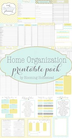 FREE home organization printables, menu planners, and cleaning schedules.
