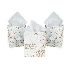 Medium+Gold+Wedding+Dot+Gift+Bags+with+Tags+-+MarryMe.com