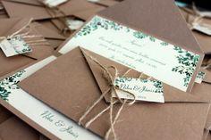Einladungskarten - Rustikal Hochzeit Einladung Hochzeitseinladung - ein Designerstück von EinladungZurHochzeit bei DaWanda