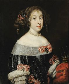 Marguerite Louise d'Orléans, Grand Duchess of Tuscany with the Tuscan grand ducal crown by Justus Sustermans, mid 17th century