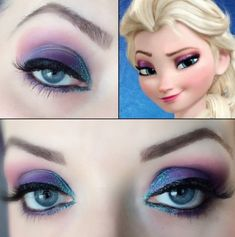 Look Like Elsa With Espionage Cosmetic's Custom Frozen Collection             Step by step tutorial here: http://cdn3.fashionablygeek.com/wp-content/uploads/2014/04/pictorial.jpg?22a92a