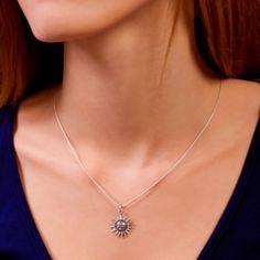 STERLING SILVER PENDANT, SUN Sterling Silver Pendants, Sun, Jewelry, Products, Jewlery, Jewerly, Schmuck, Jewels, Jewelery
