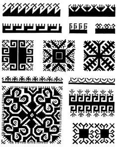 Traditional Mari El (Finno-Ugric folk in Russia) Ornaments
