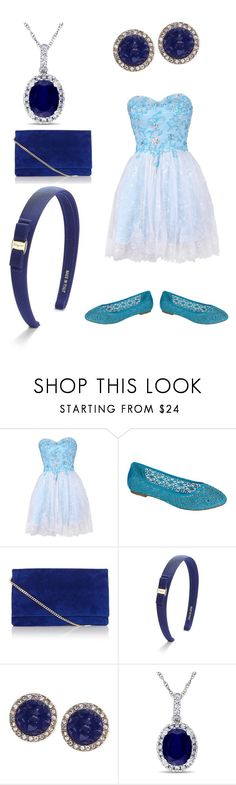 """""""Beautiful Blue Outfit"""" by kristen-gregory-sexy-sports-babe ❤ liked on Polyvore featuring Pinky, Karen Millen, Salvatore Ferragamo, Rachel Rachel Roy and Allurez"""
