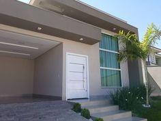 100 fachadas de casas modernas e incríveis para inspirar seu projeto Duplex House Design, Home Room Design, Modern House Design, Exterior Stairs, House Paint Exterior, Exterior Design, House Stairs, Facade House, Paint Colors For Home