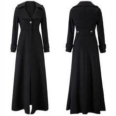Manteau femme long cachemire automne et hiver Noir Noir - Achat   Vente  manteau - caban d481a0501594