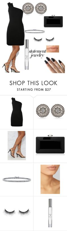 """#PolyPresents: Statement Jewelry"" by tpantelic ❤ liked on Polyvore featuring Yves Saint Laurent, Givenchy, Judith Leiber, BERRICLE, Hourglass Cosmetics, Trish McEvoy, contestentry and polyPresents"