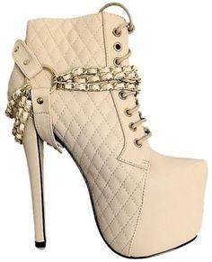 Nelly-08-Cream-Quilted-Lace-up-Pump-Platform-#Bootie-Stiletto-#Heels