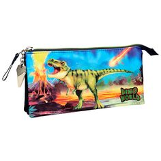 Dino World - Estuche triple Zip Around Wallet, Bags, Feathers, Handbags, Bag, Totes, Hand Bags