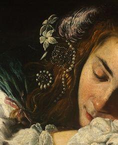 Sleeping Girl (detail), Domenico Fetti,  caa 1620