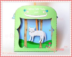 Peter and the Wolf Puppet Theater Printable PDF DIY by Crafterina, $4.50  www.Crafterina.com