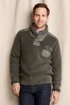 #Vintage #Military inspired shawl collar #sweater